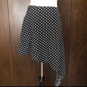 ALICE MOON black & white polka dot high low skirt